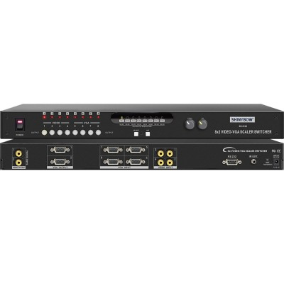 Shinybow SB-8100 8X2 Composite Video & VGA to Composite Video Selector Switch